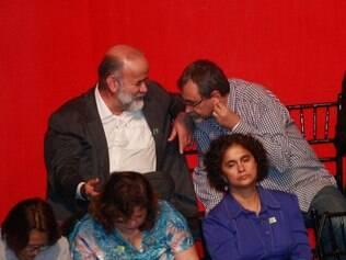 Festa de 35 anos do Partido dos Trabalhadores (PT), no MinasCentro, em Belo Horizonte, reuniu militantes petistas, militantes tucanos, manifestantes e líderes políticos, como o tesoureiro do PT João Vaccari, que aparece na foto.