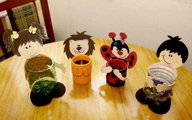 Lembrancinhas com material reciclável para festa de aniversário infantil