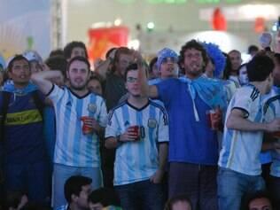 Esportes/ BRASIL. BELO HORIZONTE, MG. ExpoMinas Fifa Fan Fest.   FOTO:Uarlen Valerio / O TEMPO / 2014.06.21