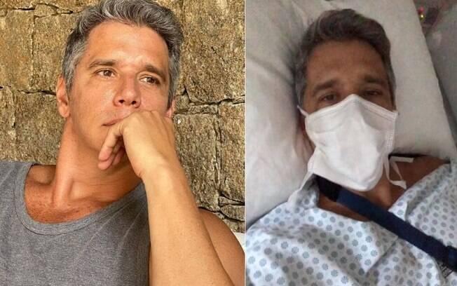 Marcio Garcia está internado, mas está bem
