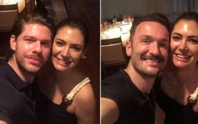 Diego Hypólito e namorado posam com Michelle Bolsonaro