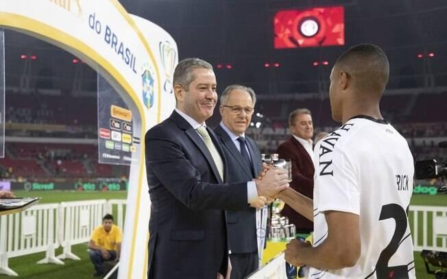 Rogério Caboclo, presidente da CBF, na cerimônia da Copa do Brasil 2019