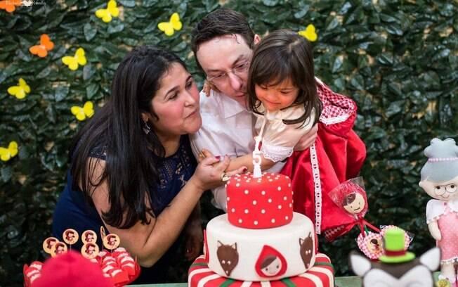 César, a esposa Orlene e a filha Maria Eduarda