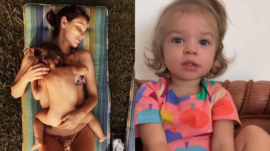 Filha de Laura Neiva e Chay Suede fala sobre gravidez da mãe