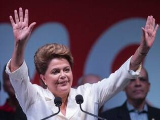 Brazil's President Dilma Rousseff, presidential candidate for re-election of the Workers Party (PT),  during a press conference in a hotel in Brasilia, Brazil, Sunday, Oct. 26, 2014. Official results showed Sunday that President Rousseff defeated candidate Neves and was re-elected as Brazil's president. (AP Photo/Felipe Dana)