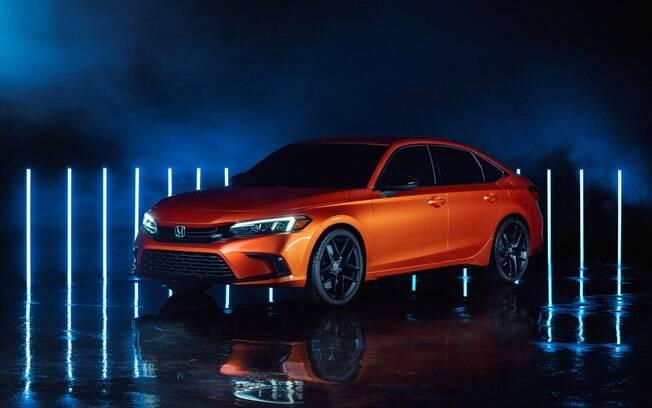 Novo Honda Civic 2022 ainda na versão conceitual, que deve ser quase igual a que será produzida em série