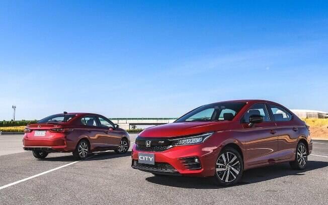 Honda City 2021 está pronto para ser lançado na Índia, antes do Brasil, onde o carro deverá estrear apenas no ano que vem