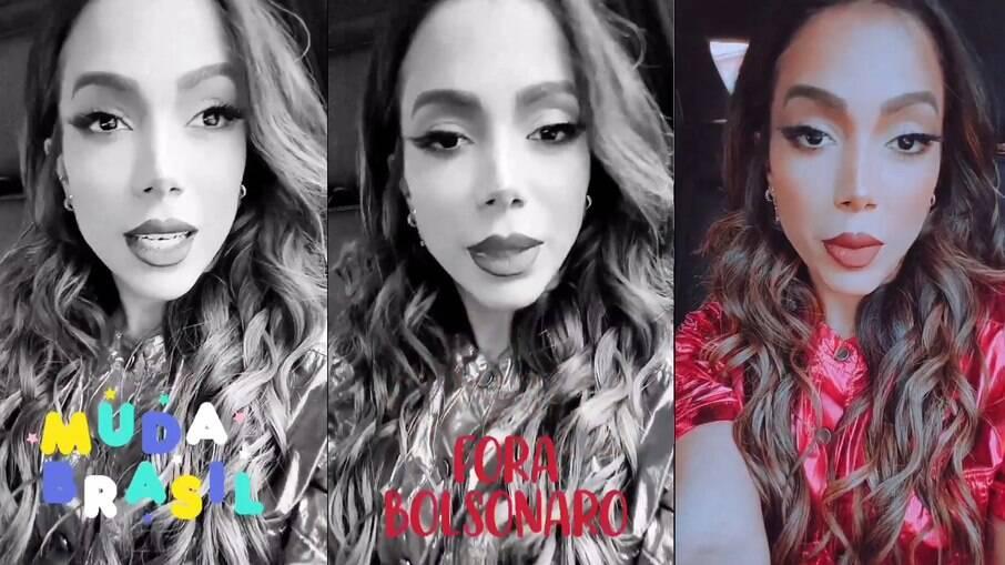 Anitta pergunta aos apoiadores do governo