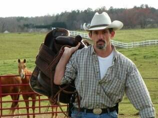Tommy Jordan, o pai que atirou no laptop da filha, em foto tirada por Hannah