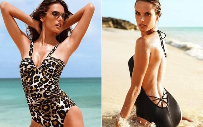 A Angel Alessandra Ambrosio exibe suas curvas para a Victoria's Secret