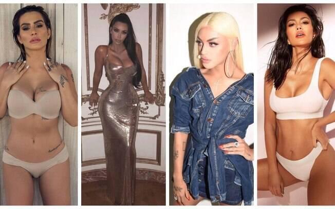 Quem são as famosas brasileiras que parecem com as integrantes da família Kardashian - Jenner?