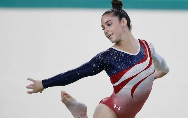 Ginasta Alexandra Raisman foi ouro no solo nas Olimpíadas de Londres 2012
