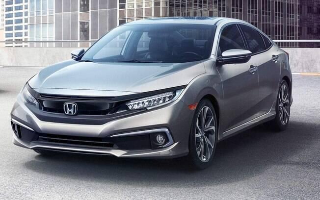 Honda Civic: mudanças discretas incluem novas entradas de ar embutidas nos para-choques com molduras cromadas