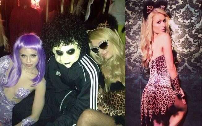 Paris Hilton optou por fantasia de oncinha