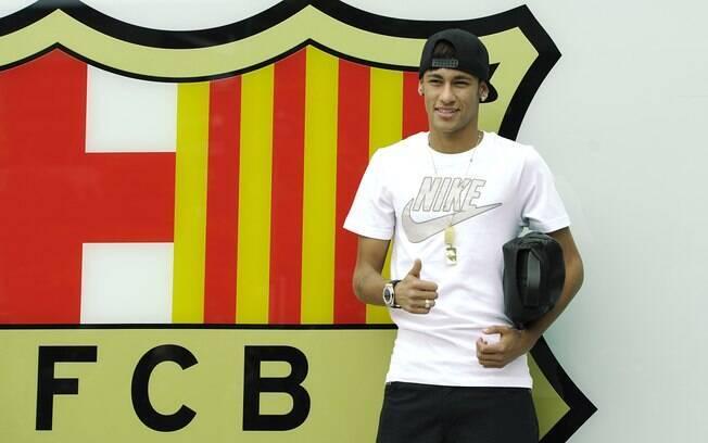 Apresentação de Neymar teve casa cheia no  Camp Nou