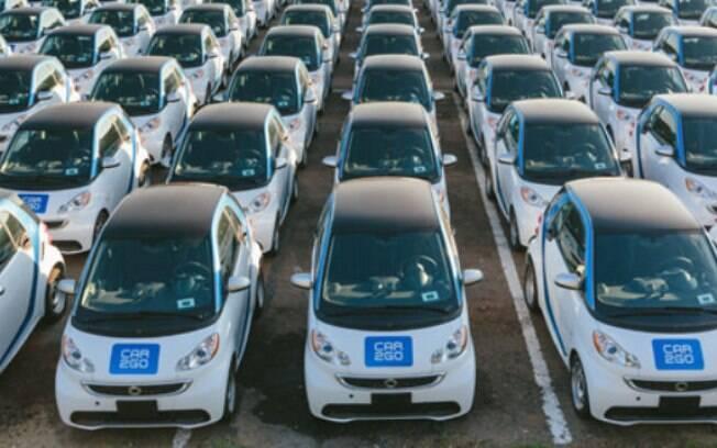 Tendência atual, o compartilhamento de carros na Europa utilizam basicamente  carros subcompactos elétricos na frota de veículos disponíveis