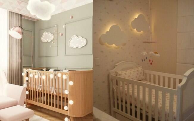 A luminária de nuvem escolhida por Sabrina Sato pode ter utilizada em diferentes tipos de decoração do quarto