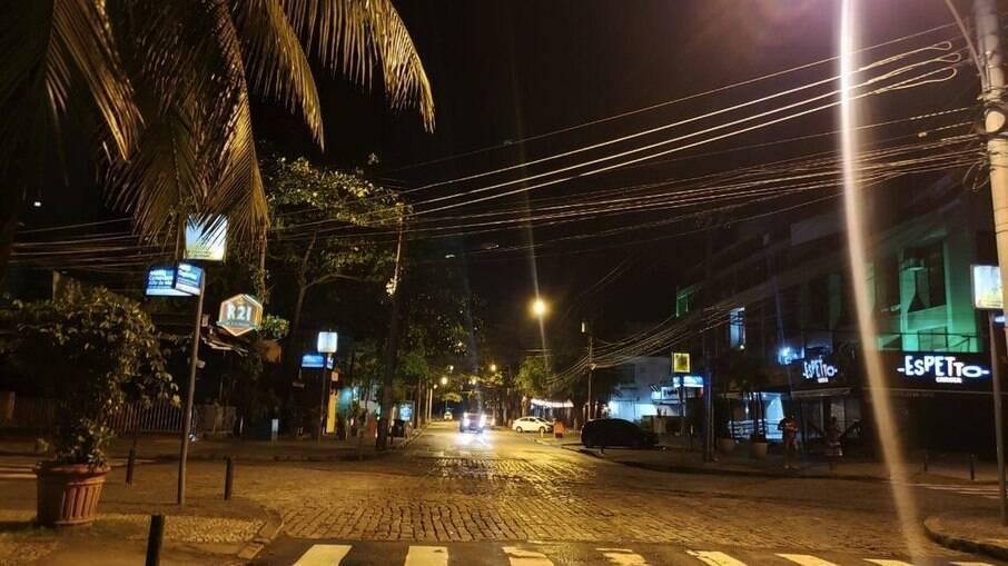 Point da Zona Oeste do Rio durante restrição