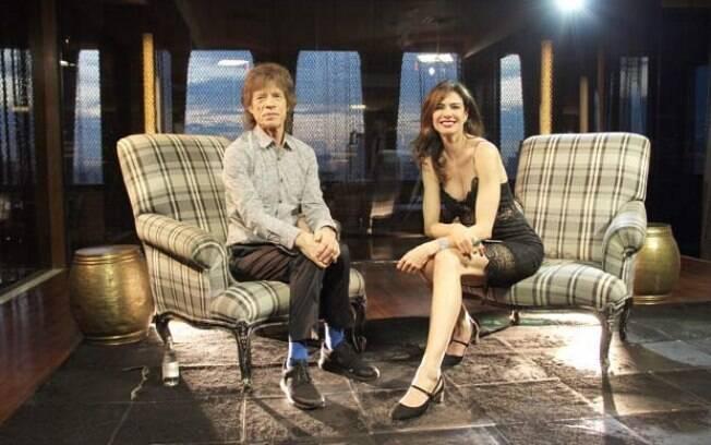 Mick Jagger e Luciana Gimenez