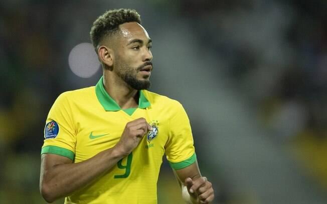 Matheus Cunha foi chamado pela primeira vez para o time principal da seleção brasileira