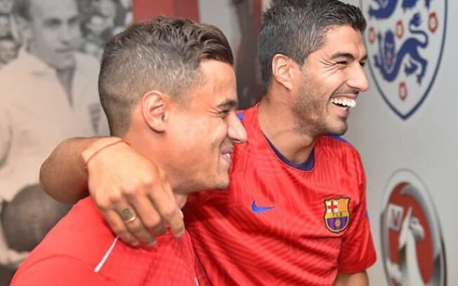 Luis Suárez e Philippe Coutinho atuam juntos mais uma vez, mas agora pelo Barcelona