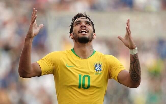 Lucas Paquetá marcou seu primeiro gol pela seleção brasileira principal
