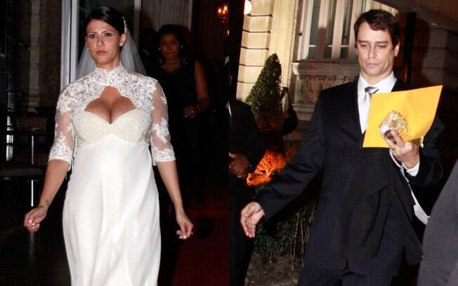 Carolina Villar e Marcello Antony após o casamento em junho de 2011