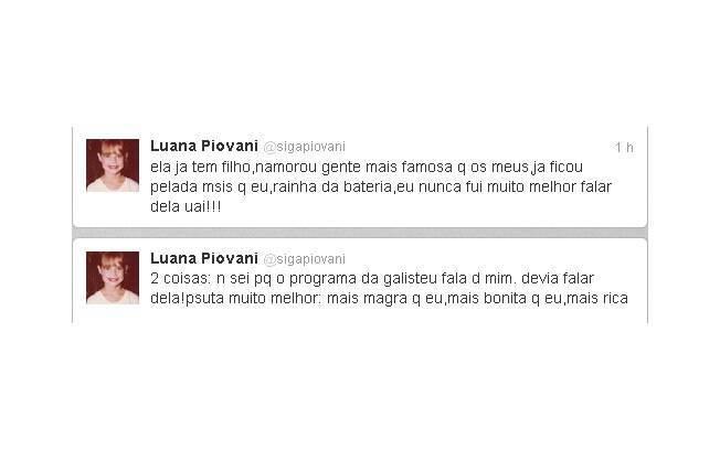 Luana Piovani critica programa de Galisteu