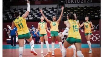 Brasil vence mais uma e segue 100% no vôlei dos Jogos Olímpicos