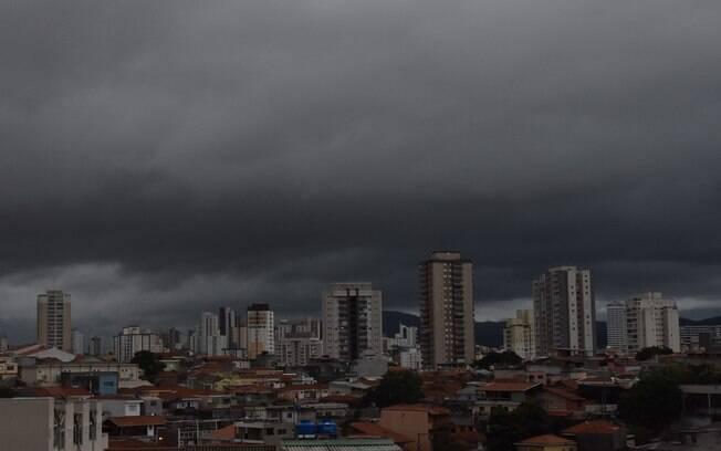 Tempo nublado em São Paulo