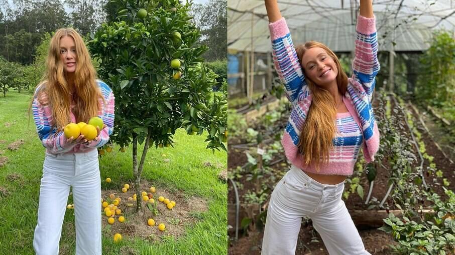Marina Ruy Barbosa estaria passando uma temporada na fazenda de affair