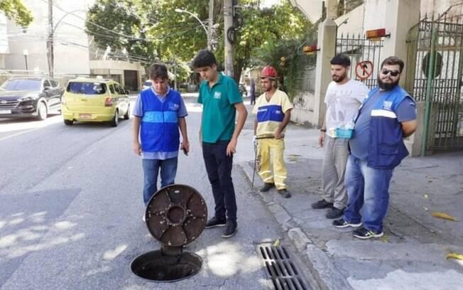Secretário de Meio ambiente, Bernardo Egas acompanha vistoria de redes pluviais na Zona Sul