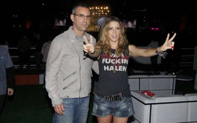 Floriano Peixoto e Christine Fernandes no Rock in Rio