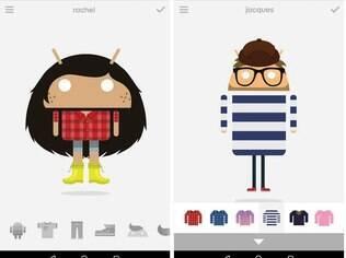 Androidify cria bonecos divertidos com base no mascote do Android. Grátis, para Android