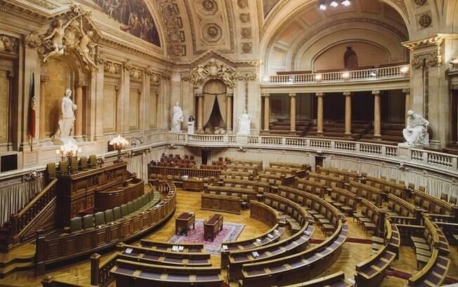 Sala de sessões do Parlamento de Portugal
