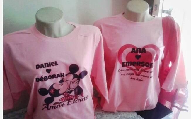 Personagens Mickey e Minnie da Disney são muito utilizados nas estampas das camisetas
