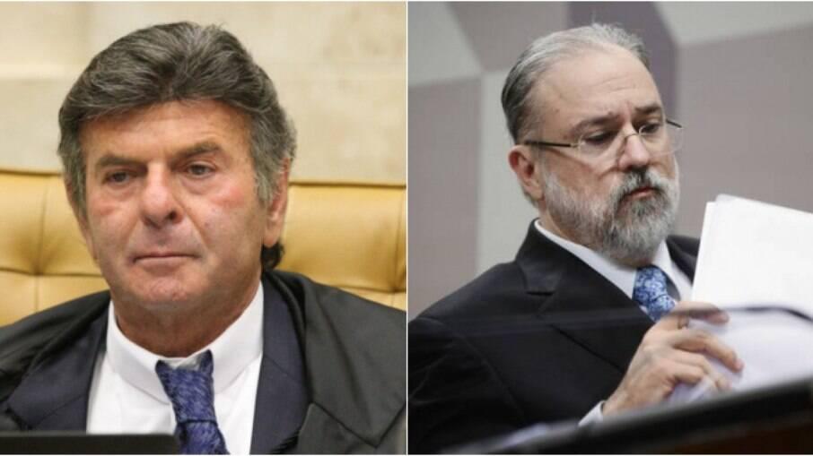 Luiz Fux e Augusto Aras