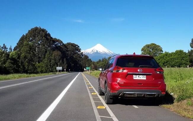 Nissan X-Trail e o vulcão Osorno