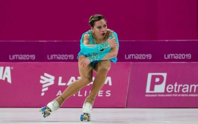 Bruna Wurts levou ouro na patinação do Pan! É a primeira mulher brasileira a ser campeã nesta modalidade