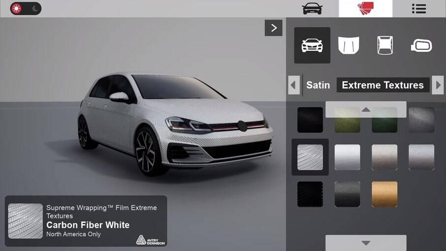 Simulador permite escolher modelo, tipo de revestimento e ponto de instalação
