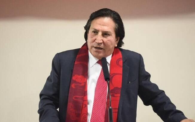 Alejandro Toledo,ex-presidente do Peru, foi preso nos EUA nesta terça-feira.