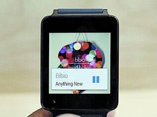 Hora certa.O relógio inteligente LG G, com sistema operacional Android Wear, foi exibido na conferência do Google em São Francisco