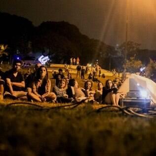 Com o Experimenta SP, a população conseguiu aproveitar até um cinema na Praça do Pôr-do-Sol