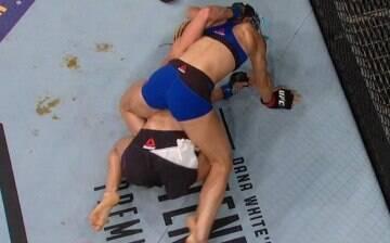 """Lutadora defeca durante duelo no UFC Oklahoma e brinca: """"M**** acontecem"""""""