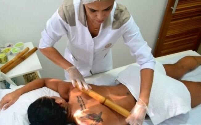 Bambuterapia e massagem relaxante