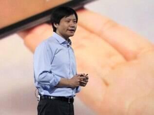 Lei Jun, fundador e presidente da Xiaomi, em evento da empresa
