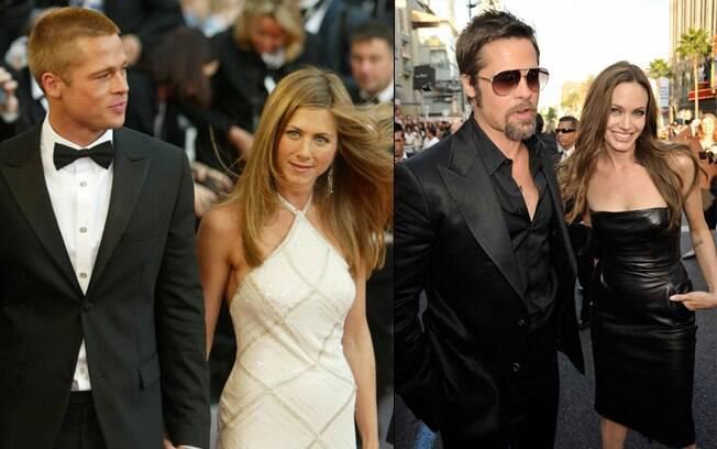 Brad Pitt com Jennifer Aniston antes de conhecer Angelina Jolie nas filmagens de