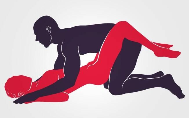 Se a mulher gosta de se sentir dominada, o parceiro poderá ainda segurar os seus braços na posição