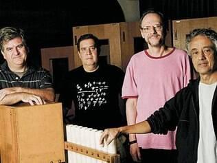 Artur Andrés, Décio Ramos, Marco Antônio e Paulo Santos formam o Uakti