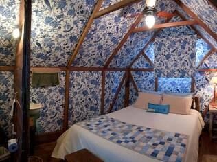 Quarto em uma das barracas térmicas do Parador, em Cambará do Sul